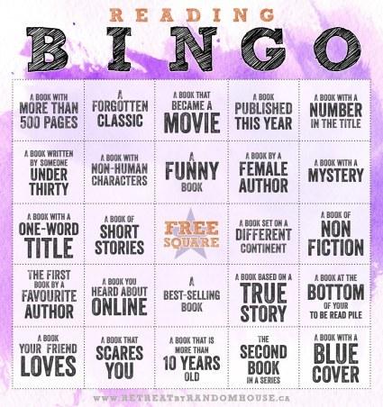 Reading Bingo 2017