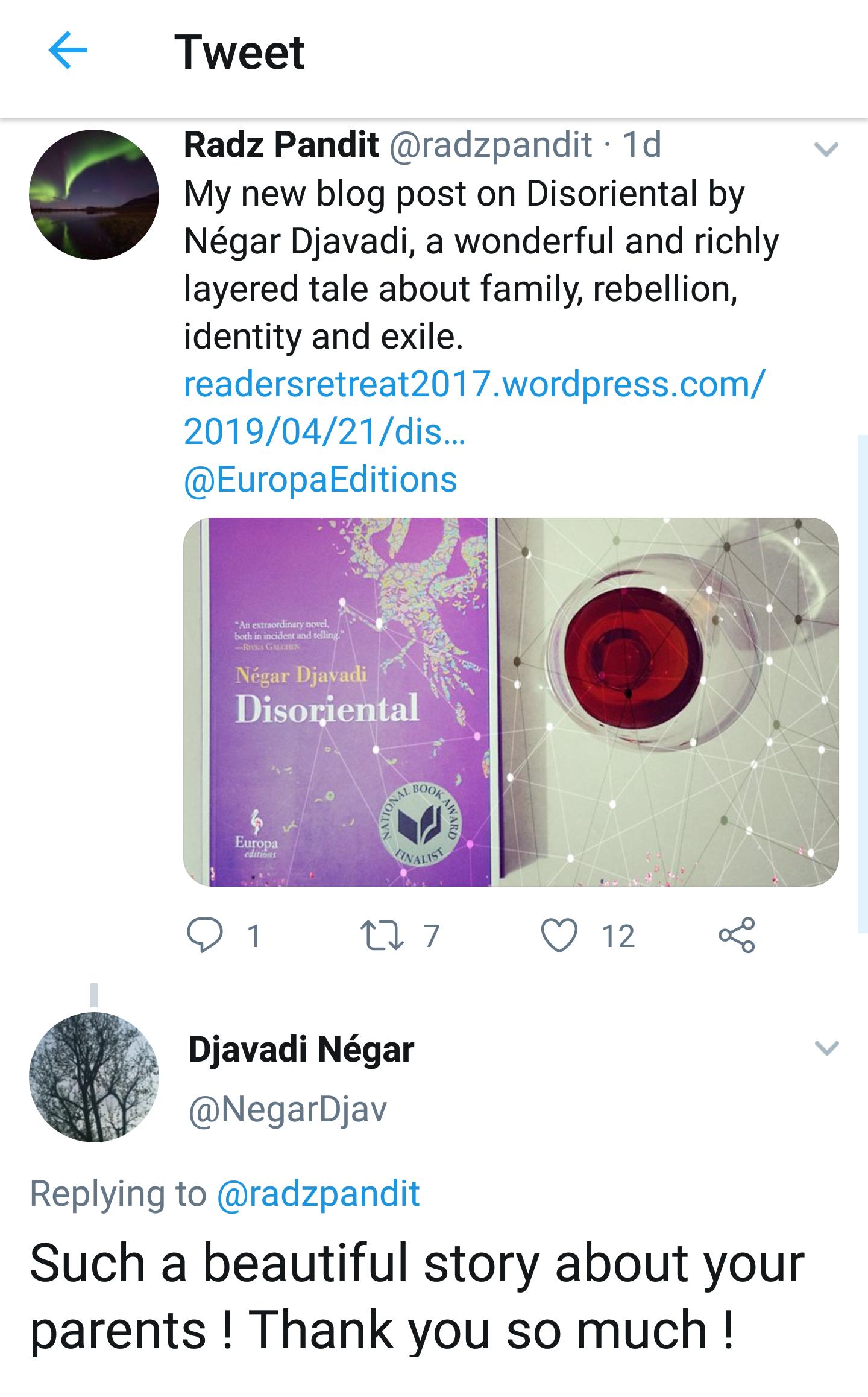 Djavadi reply